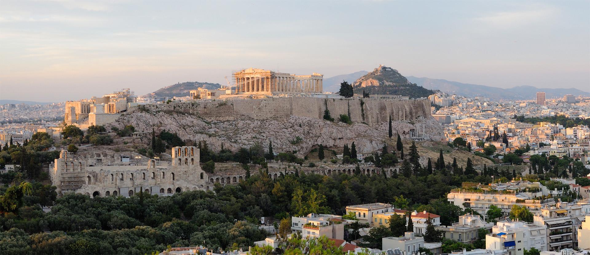 Атина гледка към Акропола