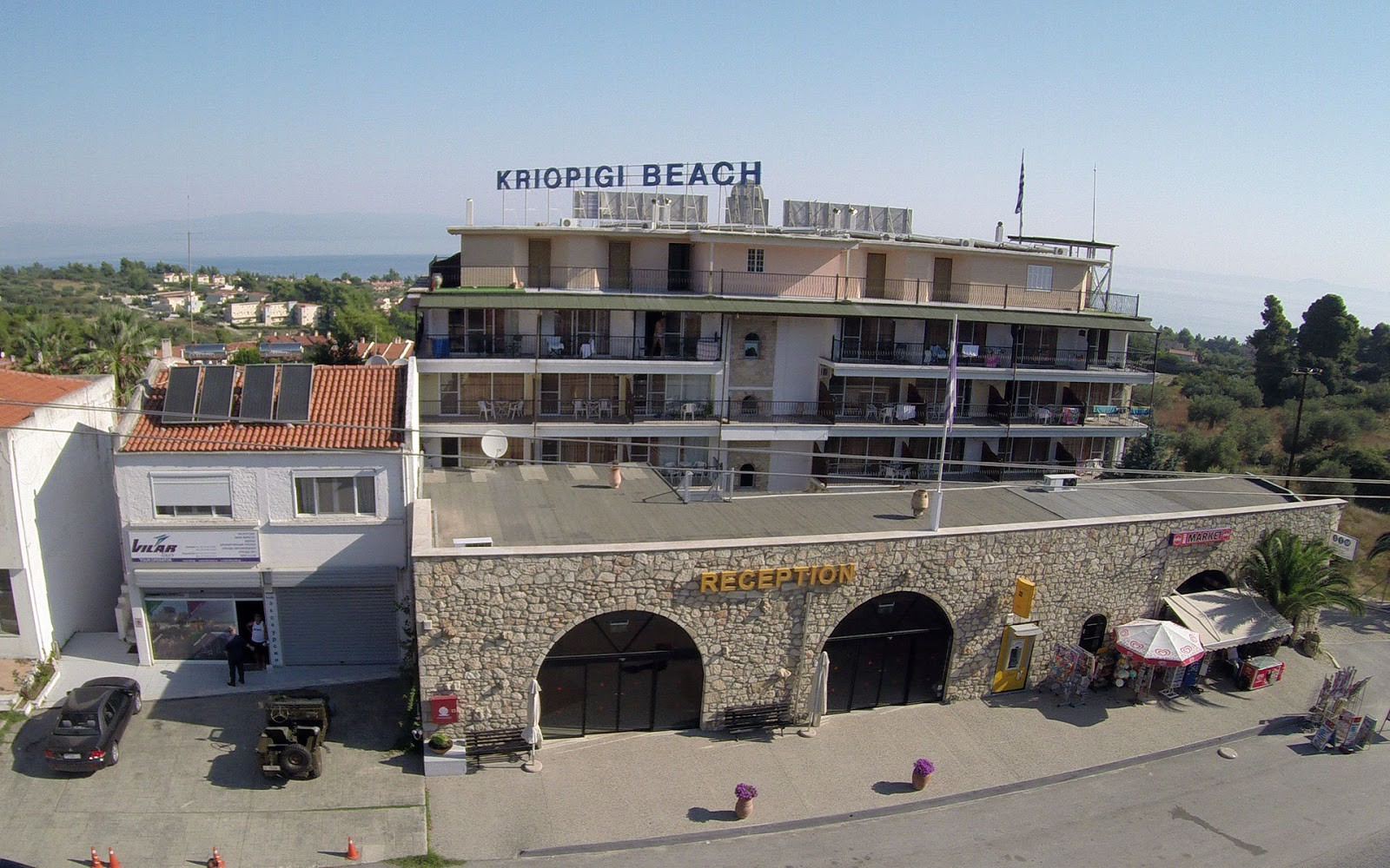Kriopigi Beach Hotel front