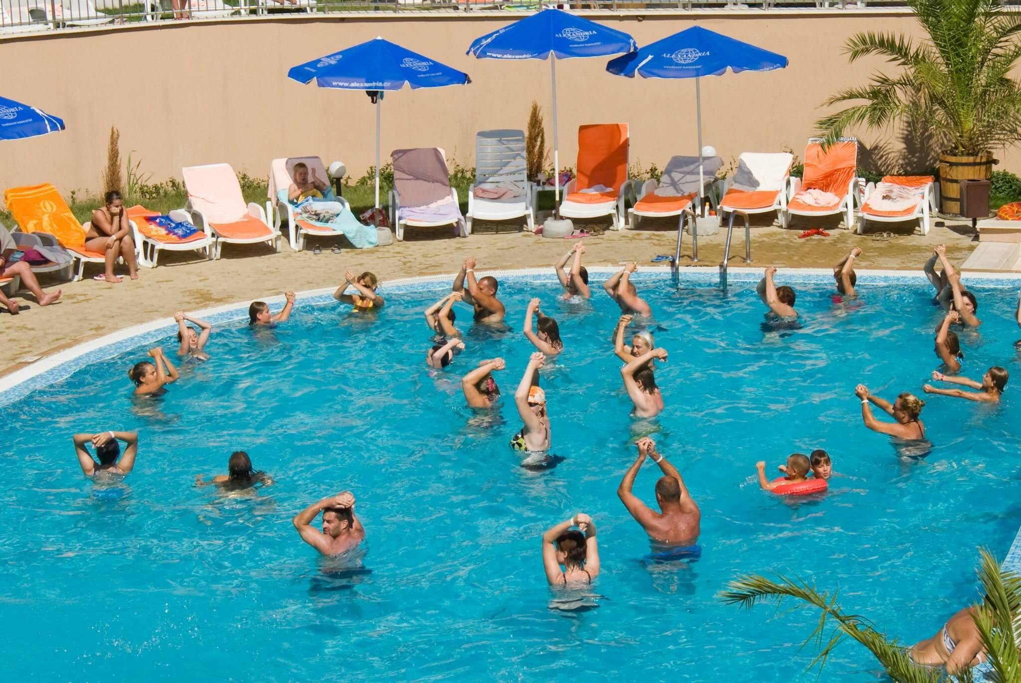 Хотел Хермес Александрия Клуб - басейн анимация