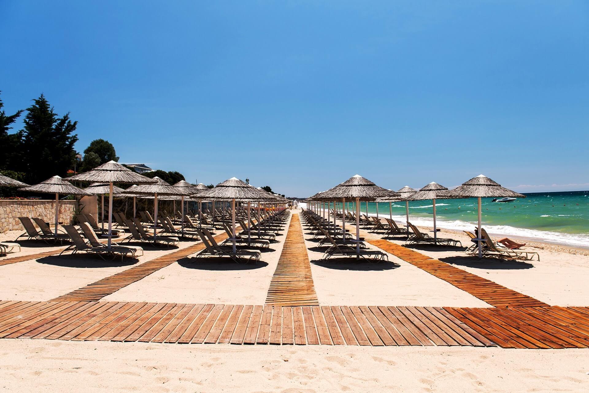 Potidea Palace - плаж